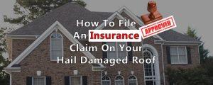 Lafayette hail damaged roofing insurance claim